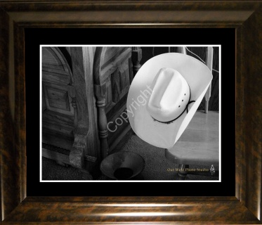 Cowboys Roost Matted & Framed