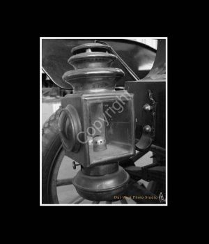 Model T Headlight Black and White Print